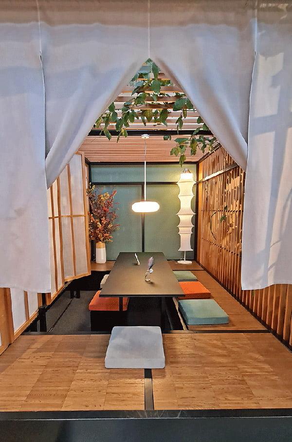Sala da té giapponese