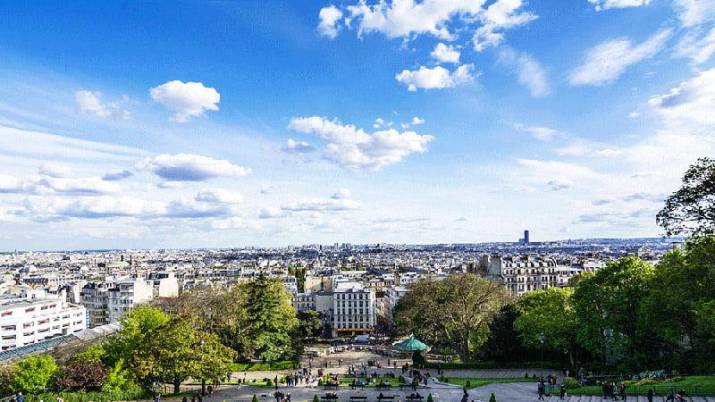 Vista di Parigi da Montmartre