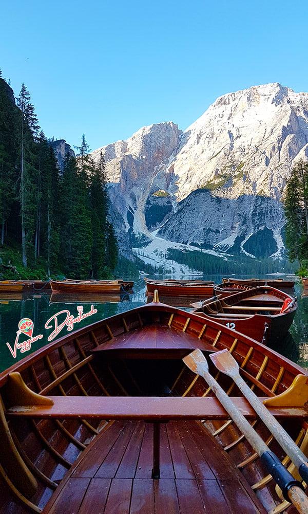 Noleggio barca lago di Braies